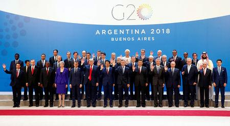 G20 leaders pose for a family photo during the G20 summit in Buenos Aires, Argentina November 30, 2018. REUTERS/Marcos Brindicci