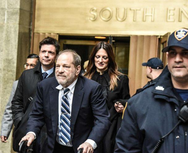 PHOTO: Film producer Harvey Weinstein leaves his sexual assault trial on February 13, 2020 at the New York City Criminal Court in New York City. (Stephanie Keith / Getty Images)