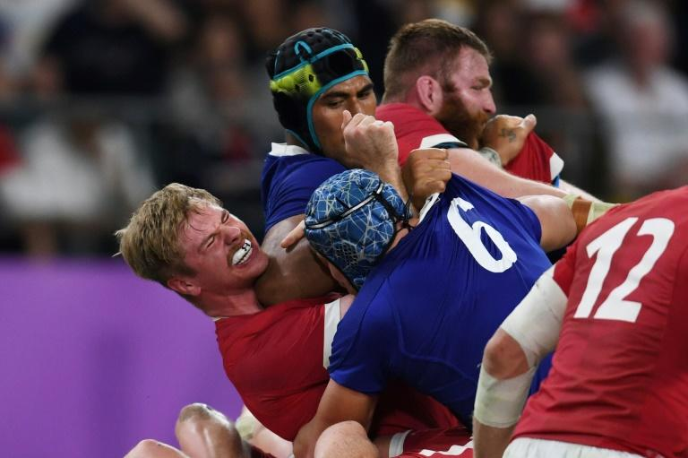 France's Sebastien Vahaamahina is suspended for six weeks by his club Clermont after his sending-off in the Rugby World Cup quarter-finals