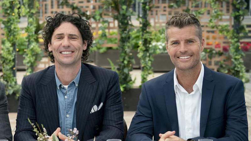 MKR judge Colin Fassnidge with Pete Evans
