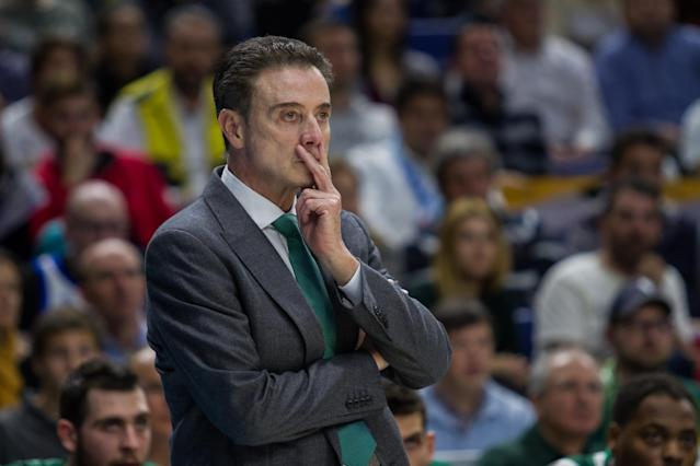 Rick Pitino and his former boss Tom Jurich being run out of Louisville was one of the few repercussions of the college basketball scandal so far. (Getty)