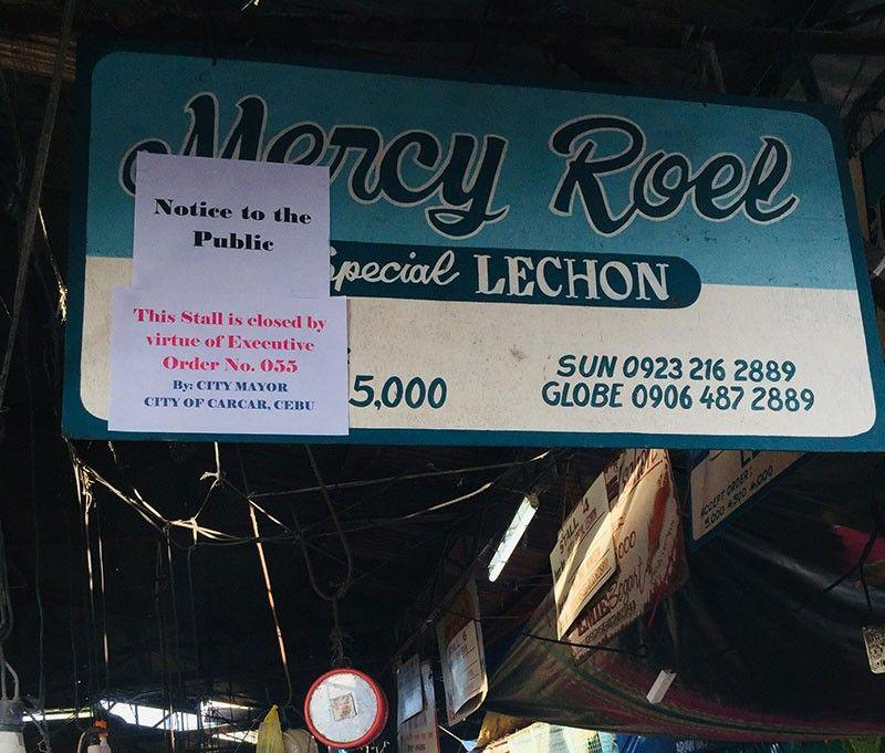 Carcar City mayor turns a deaf ear to erring lechon vendors' appeal