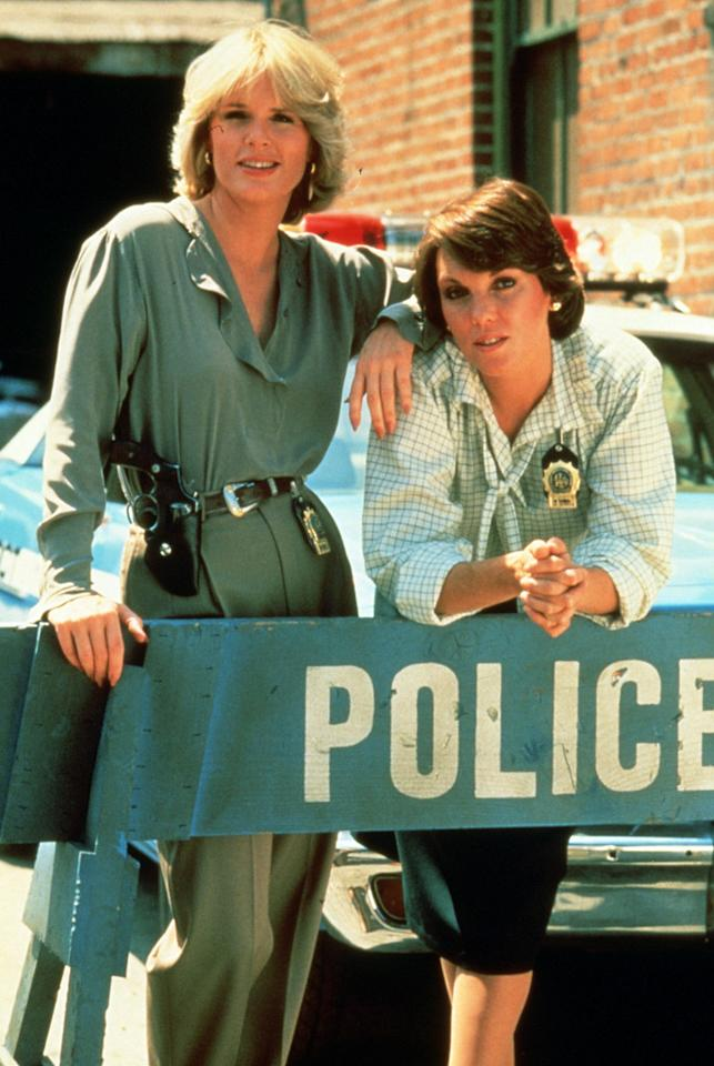 "Sharon Gless as Christine Cagney and Tyne Daly as Mary Beth Lacey in ""Cagney & Lacey."""