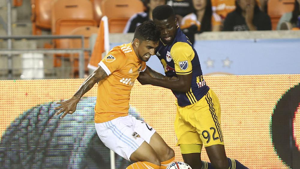 AJ DeLaGarza Kemar Lawrence Houston Dynamo New York Red Bulls MLS 040117