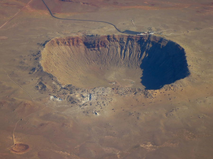 If you're standing on the corner in Winslow, Arizona, you should walk a couple steps further and check out the world's largest meteor crater!