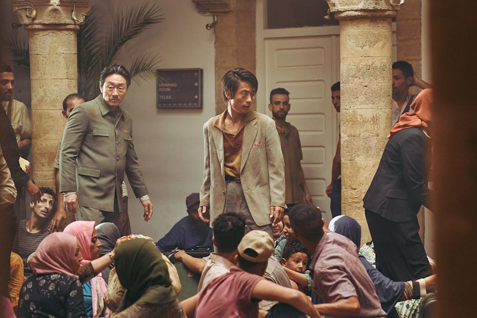 Heo Joon Ho and Koo Kyo Kwan in Escape From Mogadishu. (Photo courtesy of Golden Village Pictures)