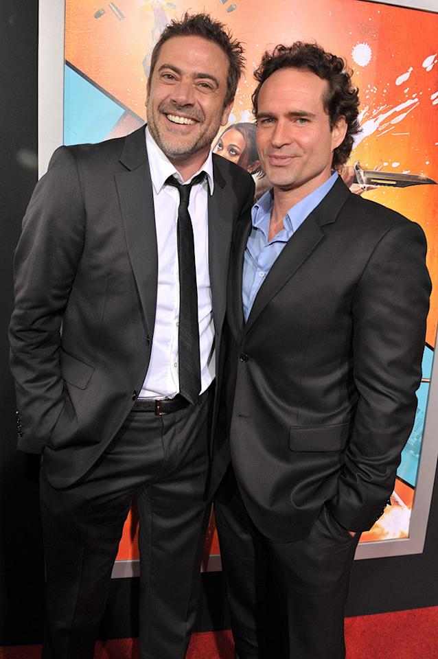 """<a href=""""http://movies.yahoo.com/movie/contributor/1800162296"""">Jeffrey Dean Morgan</a> and <a href=""""http://movies.yahoo.com/movie/contributor/1800033188"""">Jason Patric</a> at the Los Angeles premiere of <a href=""""http://movies.yahoo.com/movie/1810096356/info"""">The Losers</a> - 04/20/2010"""