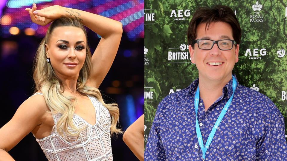 'Strictly Come Dancing' professional Luba Mushtuk would love to have Michael McIntyre as a celebrity partner. (Credit: Joe Giddens/PA/Nick England/Barclaycard Exclusive/Getty)