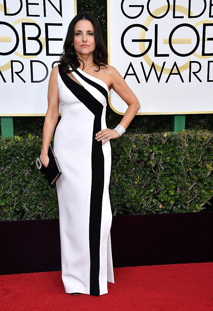 Julia Louis-Dreyfus in Georges Chakra. (Photo: Getty Images)