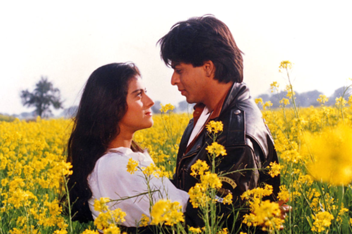 <p>An absolutely iconic movie, DDLJ ran in Mumbai's Maratha Mandir for about 1009 weeks! This in itself, ought to tell you what a legendary movie this was. One of Bollywood's best on-screen pairing came together in this movie, SRK-Kajol, to depict the story of a guy trying to win over his girlfriend's family's approval for their marriage. </p>