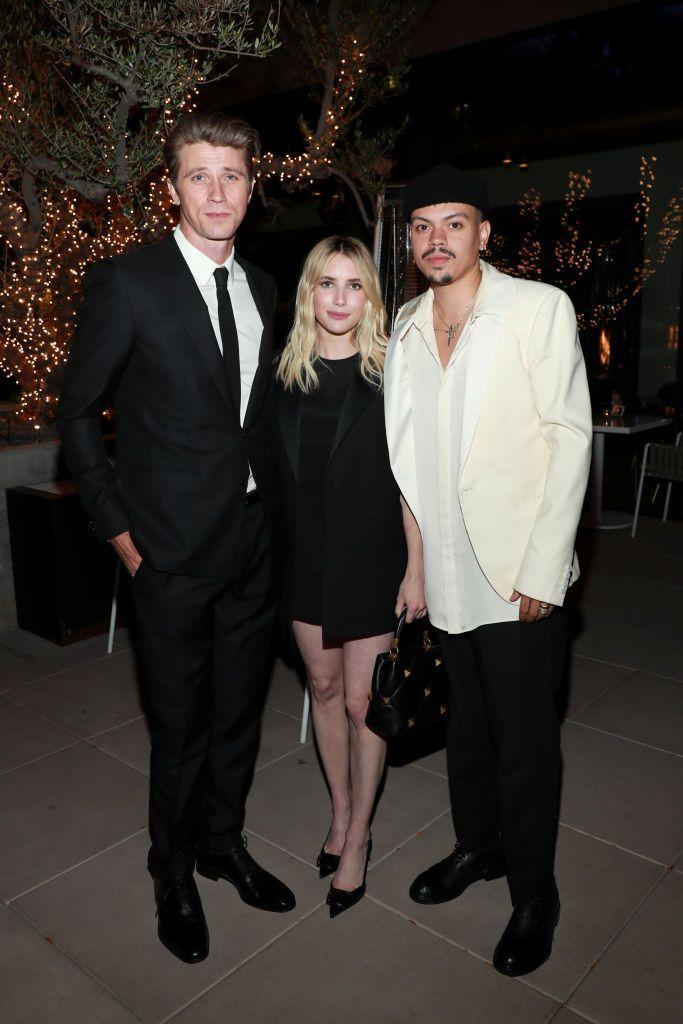 """<p>New parents Garrett and Hedlund and <a href=""""https://www.elle.com/uk/life-and-culture/culture/a34960209/emma-roberts-pregnancy-photos/"""" rel=""""nofollow noopener"""" target=""""_blank"""" data-ylk=""""slk:Emma Roberts"""" class=""""link rapid-noclick-resp"""">Emma Roberts</a> attended a party for Andra Day and The United States vs Billie Holiday movie with the movie's star Evan Ross, for which Roberts wore Valentino.</p>"""