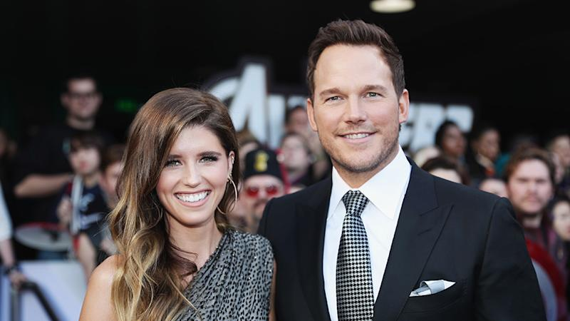 Chris Pratt and Katherine Schwarzenegger on the Avengers: Endgame red carpet