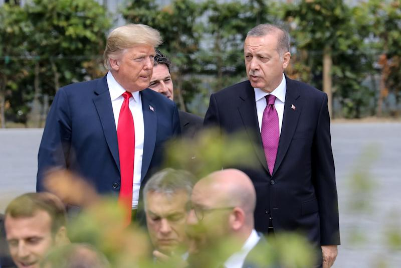 President Donald Trump and Erdogan (right) have built a close personal bond since 2016. (Photo: POOL New / Reuters)