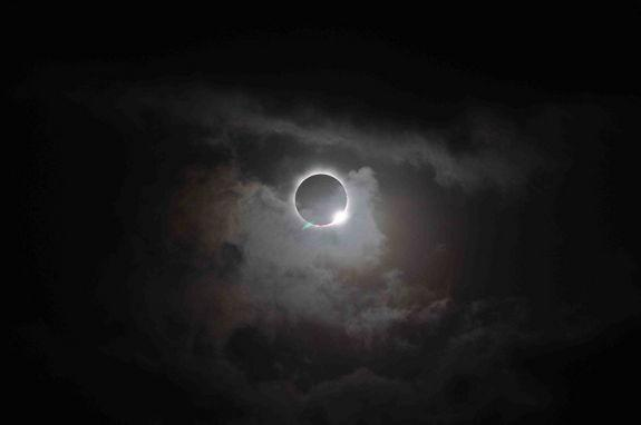 The total solar eclipse over Cairns, Australia was photographed by a representative of NASA's Solar Dynamics Observatory mission on Nov. 14, 2012 (Nov. 13 EST).