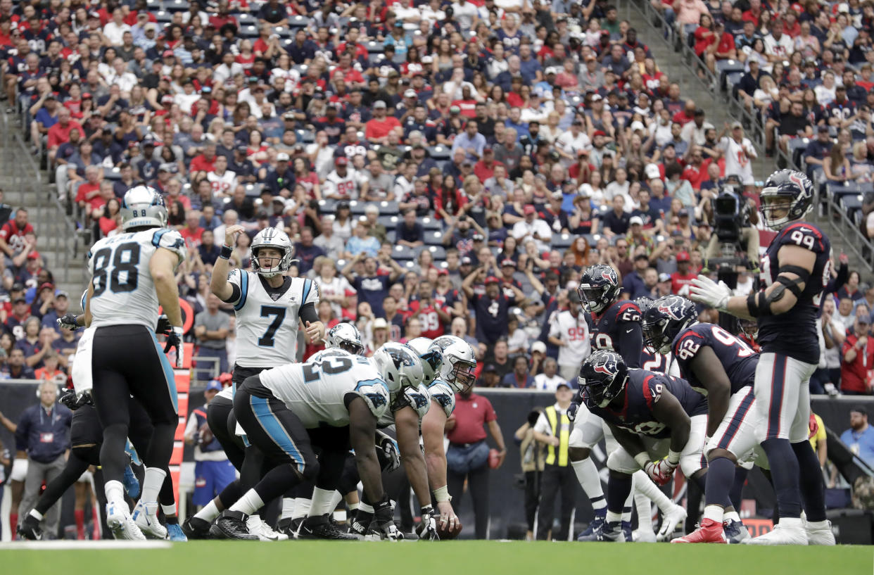 The Carolina Panthers and Houston Texans meet in Week 3 and all signs point to a low-scoring battle. (Tim Warner/Getty Images)