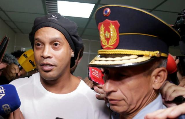 Ronaldinho leaves Paraguay's Supreme Court after testifying in Asuncion