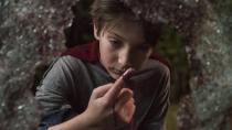 Pitched by the Gunn family - James is a producer and Brian and Mark are the writers - as the origin story of Superman given a horror twist, <em>Brightburn</em> is a scary and sinister superhero tale. It's anchored by the terrific Jackson A. Dunn as the blank-faced kid dealing with extraordinary powers, as well as a shocking revelation about his past. (Credit: Sony)