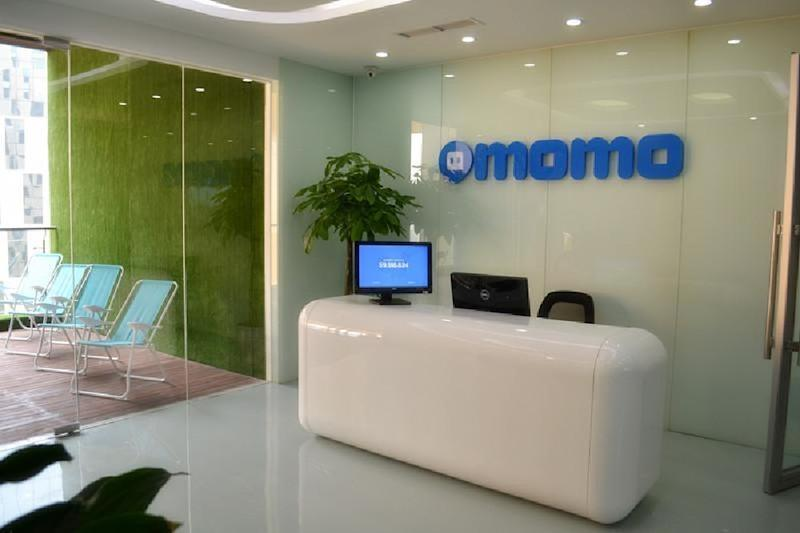 Momo reception desk at company headquarters.
