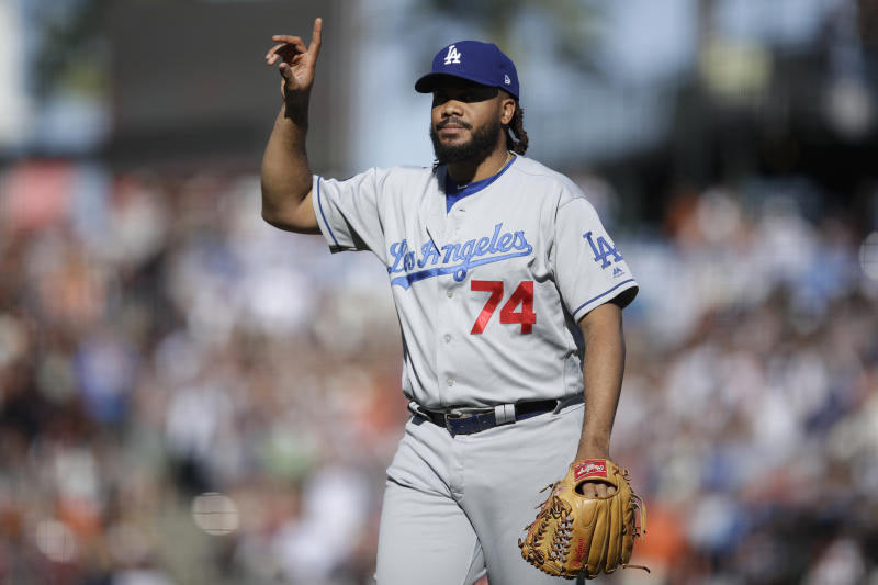 Los Angeles Dodgers closer Kenley Jansen has had an up and down season. (AP Photo/Ben Margot)
