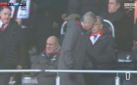 Wenger late to seat - Credit: Sky Sports