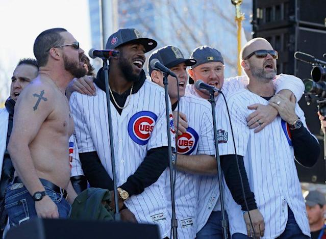 """Everybody loves """"Go, Cubs, Go."""" (Getty Images/Jonathan Daniel)"""