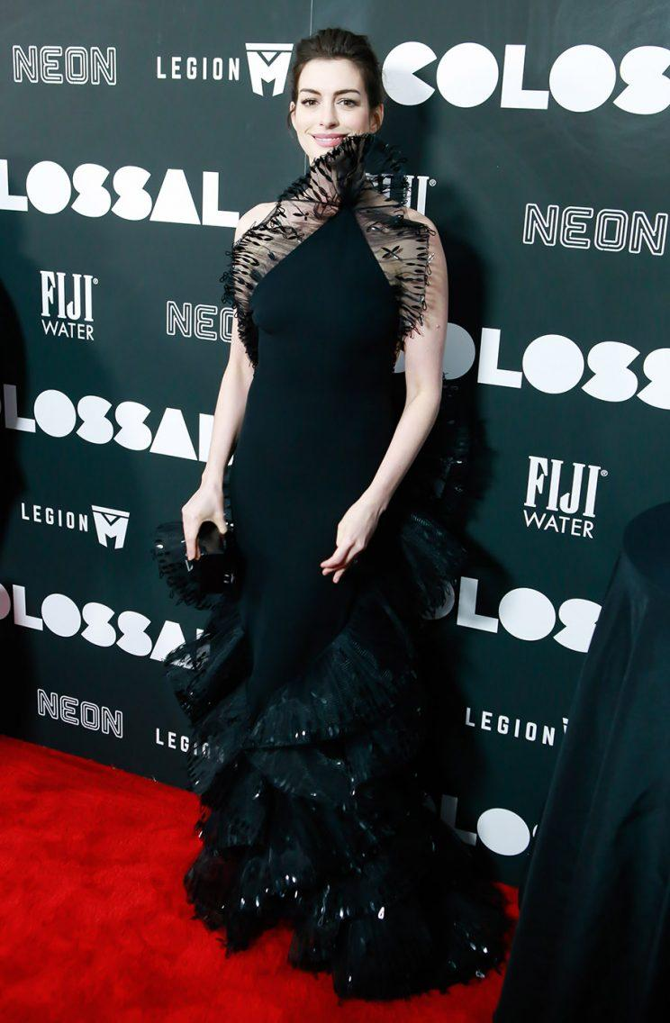 Anne Hathaway at the Colossal premiere in New York