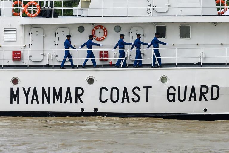 Myanmar's junta chief announced the formation of a new military coastguard, made up of four armed vessels (AFP/STR)