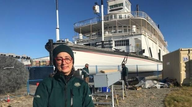 'It's an important part of Yukon history,' said Stella Patera of Parks Canada, seen here last fall at the S.S. Klondike National Historic Site in Whitehorse.  (Dave Croft/CBC - image credit)