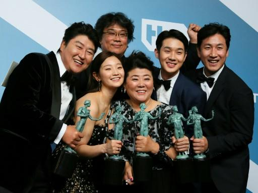 """""""Parasite"""" won the Screen Actors Guild award for best ensemble, effectively the union's prize for best film -- a first for a movie not in English"""