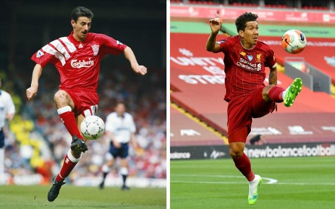 Ian Rush (left) and Firmino (right) - GETTY IMAGES