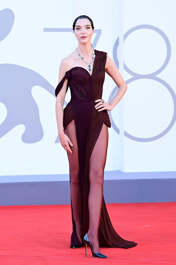 """Mariacarla Boscono attended the premiere of the movie """"Madres Paralelas."""""""