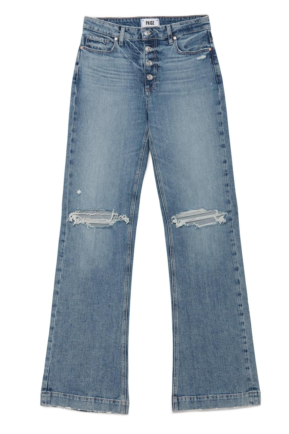 <p>We love a well-constructed, wide-leg, and these <span>Paige Leenah Magda Destructed Jeans</span> ($249) are it! </p>