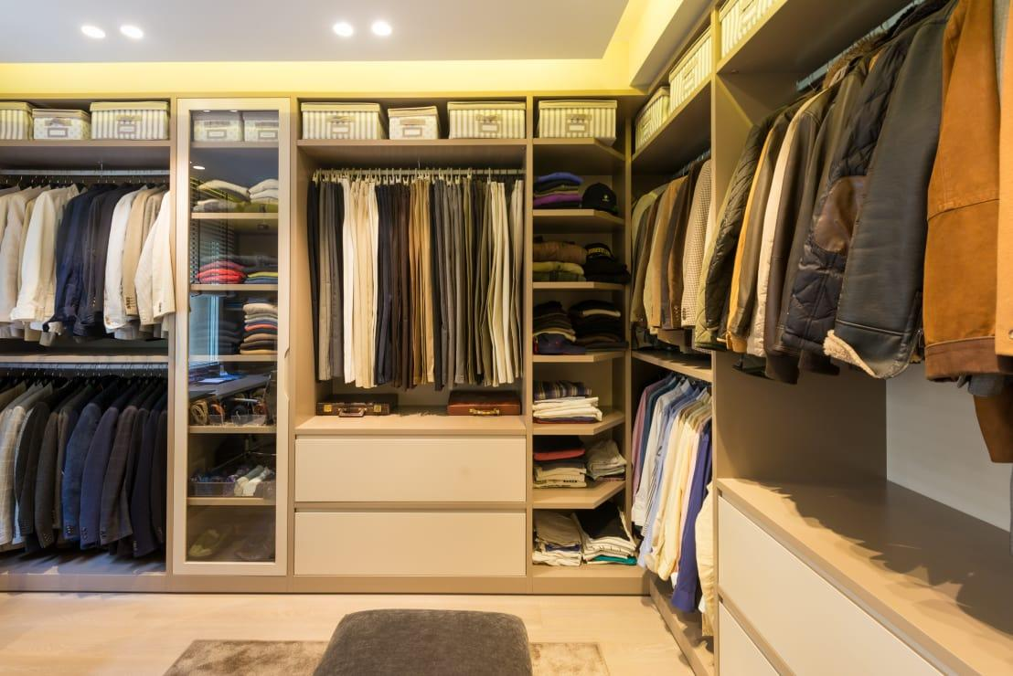 "<p>While it's not always a good idea to store money in your wardrobe in the <a rel=""nofollow"" href=""https://www.homify.co.uk/rooms/bedroom"">bedroom</a>, we must remember that a thief may not bother going through your entire sock drawer.</p><p>Store a stack of banknotes in a sock at the back of the drawer, making it hard to find. You may also want to divide your money between a few socks. </p><p>Another way to mitigate risk is to find different places to hide your money so that it's not all in one place.</p>  Credits: homify / LF24 Arquitectura Interiorismo"