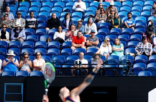 Fans will no longer be allowed in the Australian Open for the next five days
