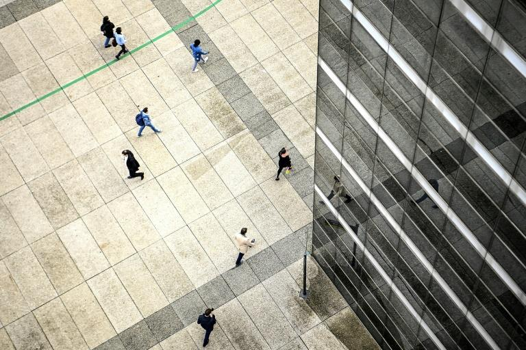 Outside it looks as though life at La Defense is back to normal but inside the towers, nothing is as it was pre-virus