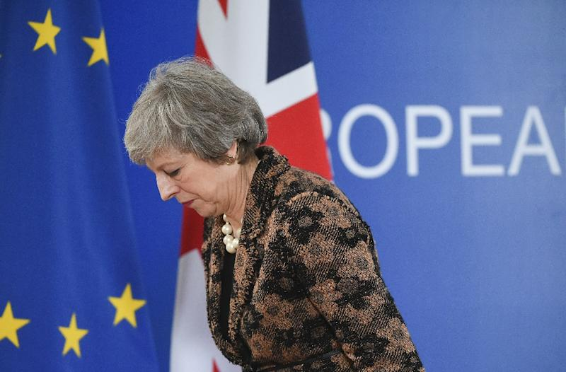Britain is due to leave the European Union on March 29 (AFP Photo/JOHN THYS)