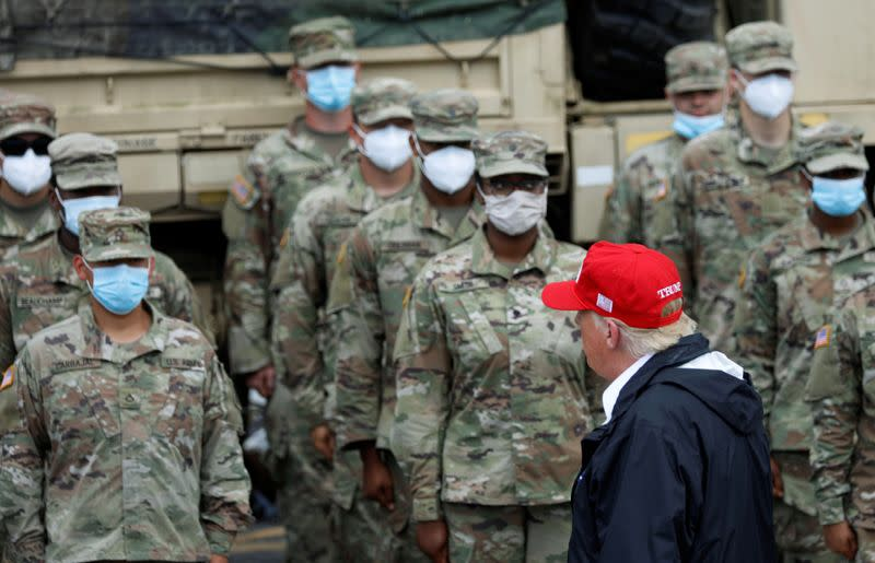 U.S. President Donald Trump visits areas damaged by Hurricane Laura in Lake Charles, Louisiana and Orange, Texas