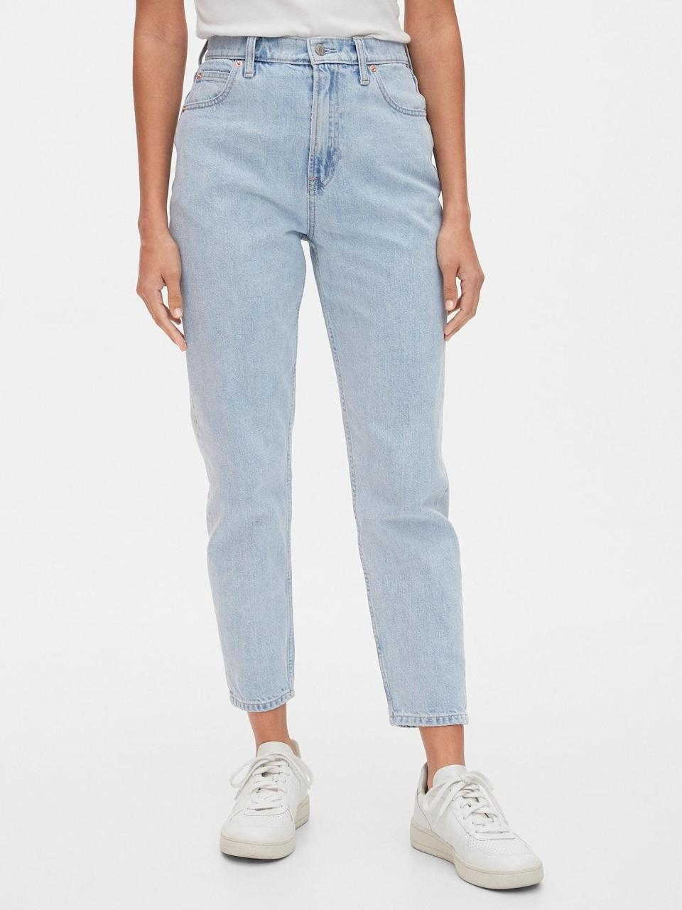 <p>Once you try these <span>Gap Sky High Rise Mom Jeans</span> ($70), you'll never go back.</p>