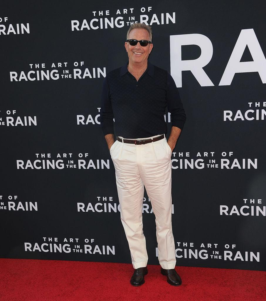 Kevin Costner is still rocking it on the red carpet, pictured in August, 2019. (Getty Images)