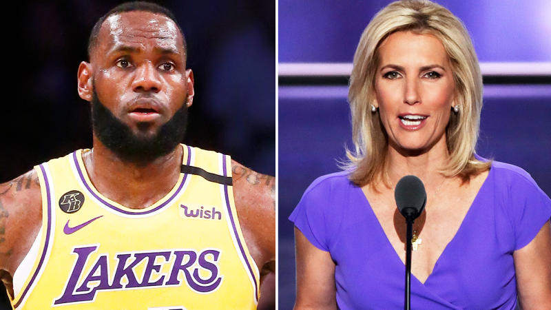 LeBron James was among a number of athletes to criticise Laura Ingraham. Image: Getty