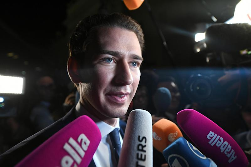 Sebastian Kurz: the 31-year-old Austrian conservative is set to become the world's youngest leader: EPA