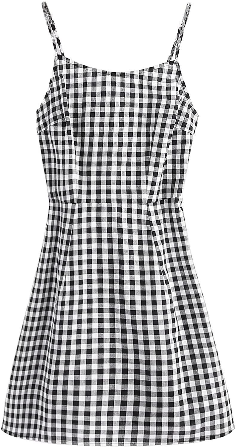 <p>You'll feel confident and sexy in this <span>SweatyRocks Spaghetti Mini Gingham Dress</span> ($21).</p>