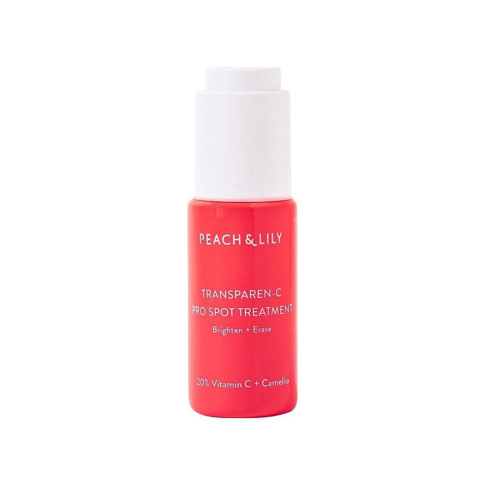 """<p>Peach & Lily's Transparen-C Pro Spot Treatment is unique in that it's formulated with ascorbyl tetraisopalmitate, which, as Zeichner <a href=""""https://www.allure.com/story/peach-and-lily-transparen-c-pro-spot-treatment-review?mbid=synd_yahoo_rss"""" rel=""""nofollow noopener"""" target=""""_blank"""" data-ylk=""""slk:previously told Allure,"""" class=""""link rapid-noclick-resp"""">previously told <em>Allure,</em></a> is an oil-soluble form of vitamin C that's """"more stable than traditional ascorbic acid in cosmetic formulations."""" What also sets this product apart from the rest is the fact that it was specifically designed to be a spot treatment, rather than a traditional all-over vitamin C serum. </p> <p>For this reason, the brand formulated it with 20 percent ascorbyl tetraisopalmitate for maximum potency. As the brand's founder, <a href=""""https://www.instagram.com/aliciayoon212/?hl=en"""" rel=""""nofollow noopener"""" target=""""_blank"""" data-ylk=""""slk:Alicia Yoon"""" class=""""link rapid-noclick-resp"""">Alicia Yoon</a>, explains, """"We decided to include 20 percent because we really wanted to design it to target any discoloration, blemish scarring, and <a href=""""https://www.allure.com/story/melasma-skin-discoloration-treatments?mbid=synd_yahoo_rss"""" rel=""""nofollow noopener"""" target=""""_blank"""" data-ylk=""""slk:stubborn melasma"""" class=""""link rapid-noclick-resp"""">stubborn melasma</a>.""""</p> $43, Ulta. <a href=""""https://shop-links.co/1733117134006147707"""" rel=""""nofollow noopener"""" target=""""_blank"""" data-ylk=""""slk:Get it now!"""" class=""""link rapid-noclick-resp"""">Get it now!</a>"""