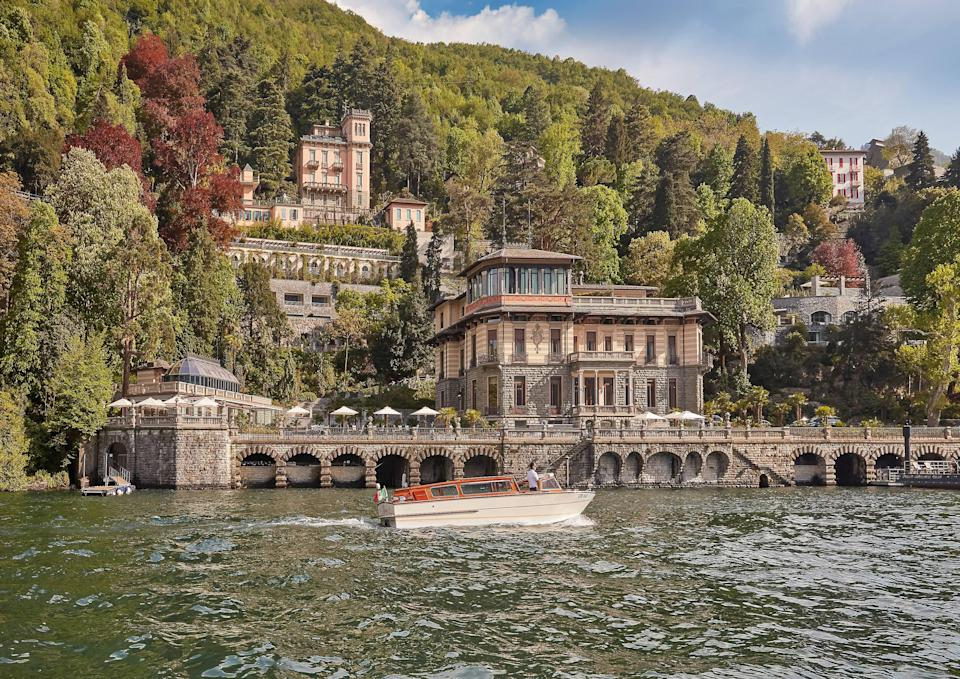 On the eastern shore, squaring off against Cernobbio, is the village of Blevio; and just outside is the wildly romantic Villa Roccabruna, a 19th-century palace soaking up some of the lake's finest sunsets. In the past, this was where the opera world's great and good came to play: mezzo-soprano Giuditta Pasta lived here, and guests included Donizetti, Rossini, and Bellini. Today, the Mandarin Oriental has dialed up the glam factor in an interesting way: choosing simple rooms (think plain floorboards and neutral drapes) and putting all the focus on the view through the floor-to-ceiling windows. Intimate seating areas dot the grounds, while the outdoor pool, cantilevered over the water, seems to float on the lake itself. From fine dining restaurant L'Aria, with its curved terrace, you could be on the prow of a ship.