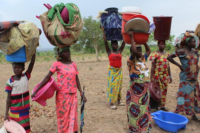 CAR refugees fleeing to Chad