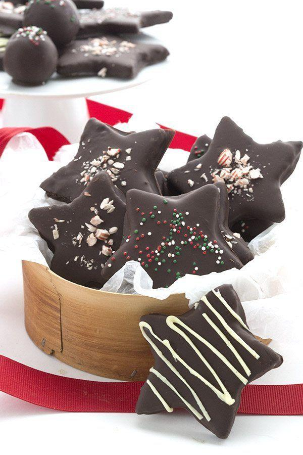 """<p>Even kids will love this keto cookie.</p><p>Get the recipe from <a href=""""https://alldayidreamaboutfood.com/low-carb-chocolate-peppermint-stars/"""" rel=""""nofollow noopener"""" target=""""_blank"""" data-ylk=""""slk:All Day I Dream About Food"""" class=""""link rapid-noclick-resp"""">All Day I Dream About Food</a>.</p>"""