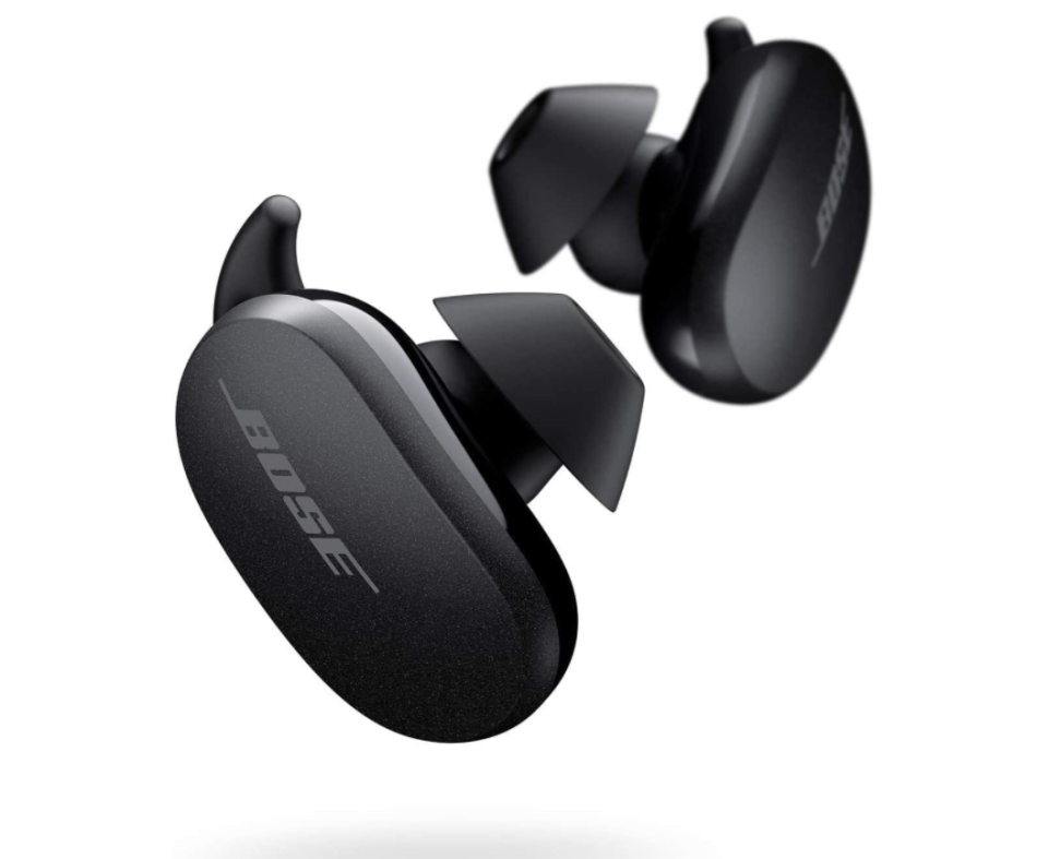 black wireless Bose QuietComfort Noise Cancelling Earbuds