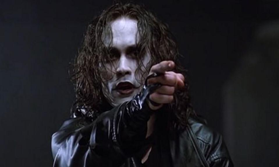 The late Brandon Lee portrayed the title character in 1994 film 'The Crow'. (Credit: Miramax)