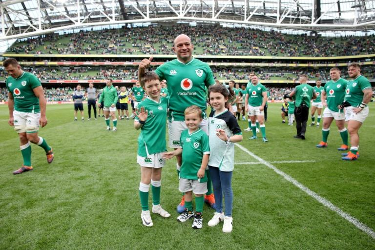 Rory Best told AFP his wife and three children attending many of his games has helped them get used to his long absences due to rugby