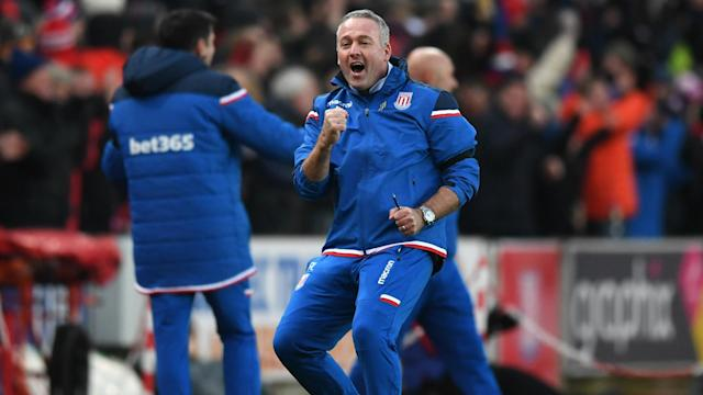 Having won his first match in charge, new Stoke City boss Paul Lambert feels the Potters are well-placed to climb out of danger.